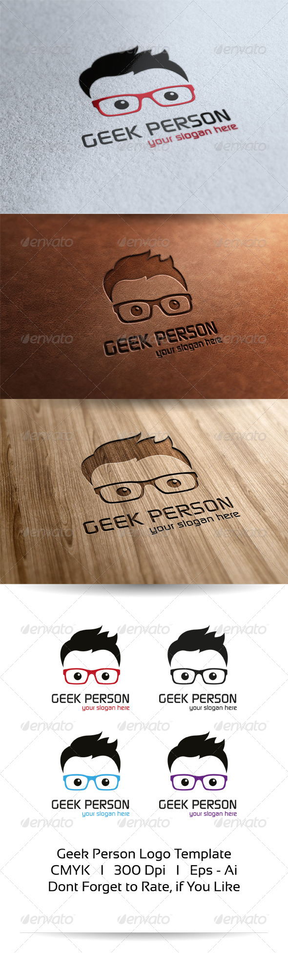 GraphicRiver Geek Person Logo Template 6526455