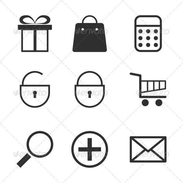 GraphicRiver Shopping Icons Set 6526472