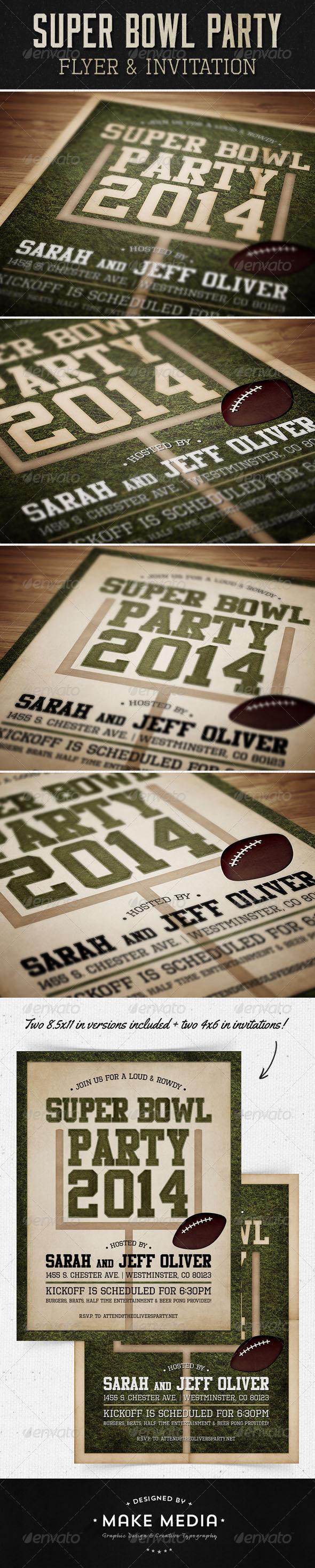 GraphicRiver Super Bowl Flyer & Invitation 6492767