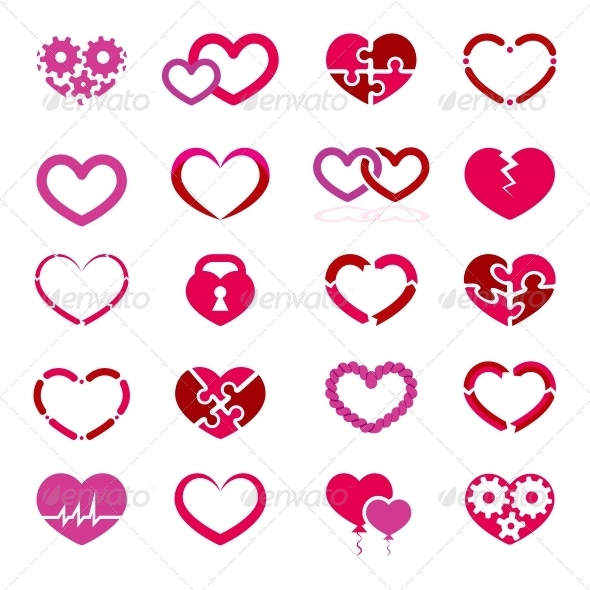 GraphicRiver Heart Icon Set 6526604