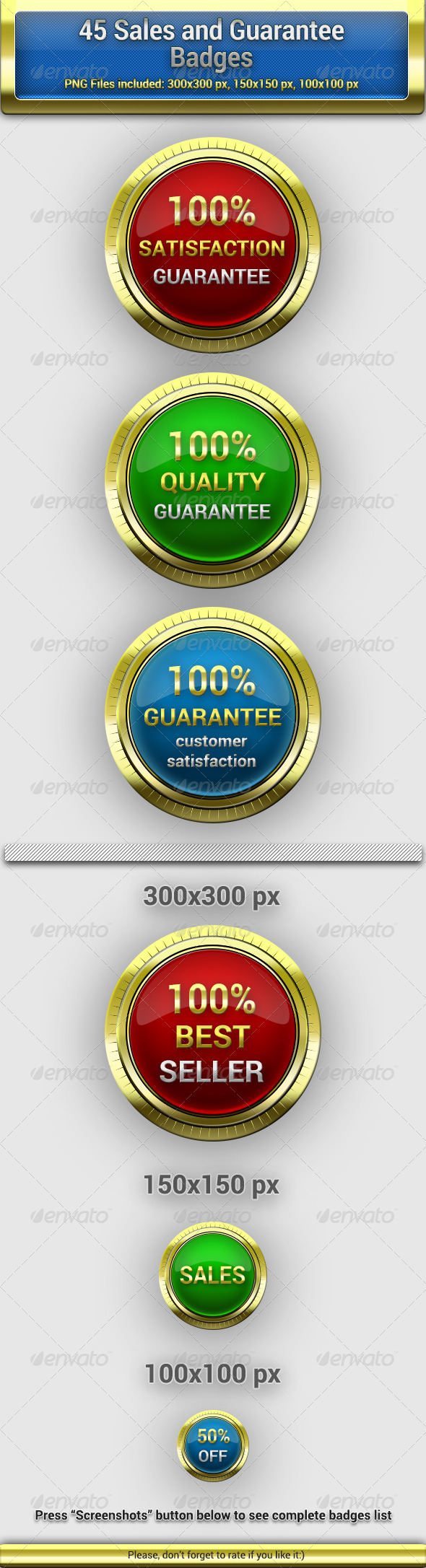 GraphicRiver 45 Sales and Guarantee Badges 6525847