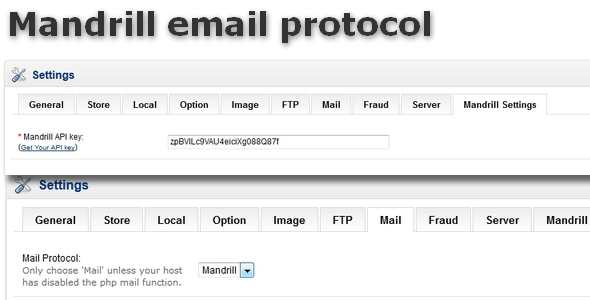 Mandrill email protocol for OpenCart