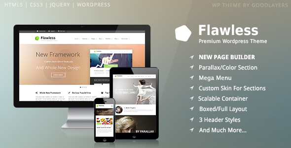 Flawless - Responsive Multi-Purpose WP Theme - introduction
