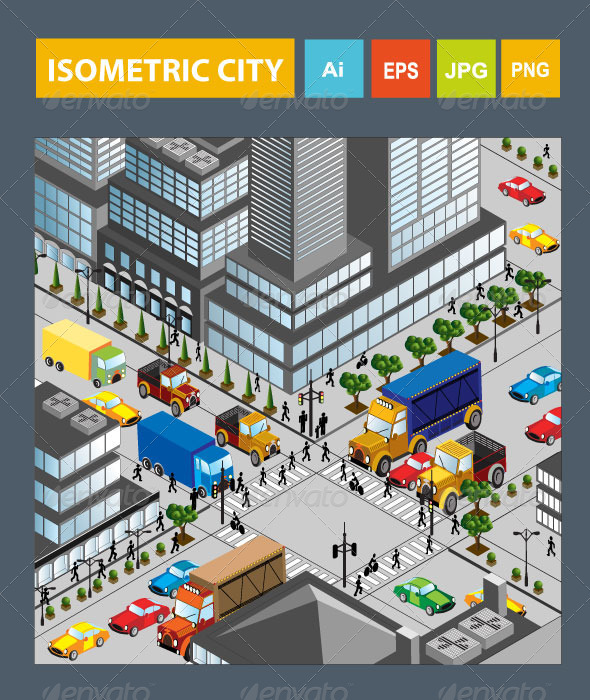 GraphicRiver Isometric City 6526954