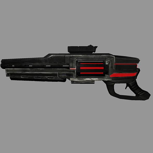 3DOcean Sci-Fi Gun #2 6527060