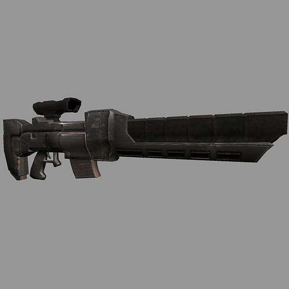 3DOcean Sci-Fi Gun #3 6527110