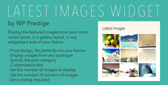 CodeCanyon Latest Images Widget for WordPress 6492740