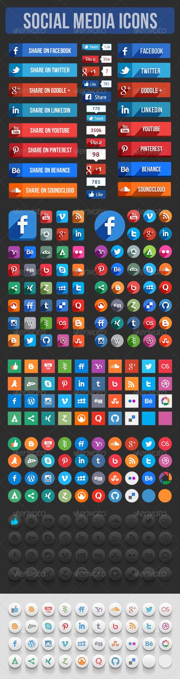 Social Media Icons - Icons