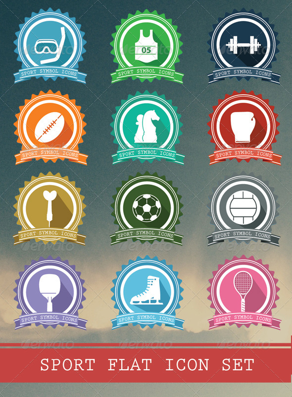 GraphicRiver Sport Badges Icons 6527646
