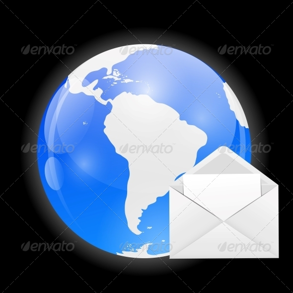 GraphicRiver Globe with Mail Vector Illustration 6527719