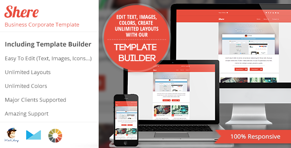 00 banner.  large preview Shere   Corporate Email HTML Template With Builder (Newsletters)