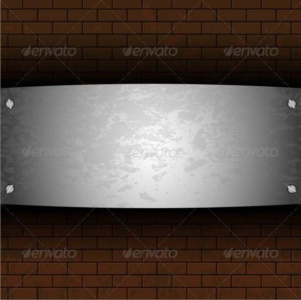 GraphicRiver Steel Plate on Brick 6527723