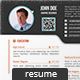 Simple One Page Resume / CV - GraphicRiver Item for Sale