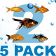 5 Pack Fishes 2 - VideoHive Item for Sale
