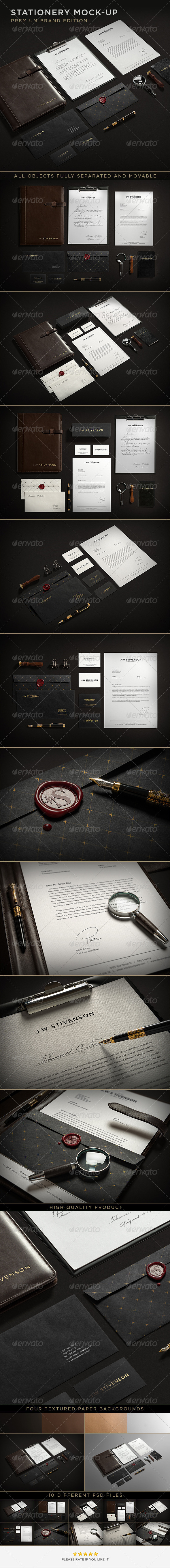 GraphicRiver Stationery Branding Mock-Up 6527818