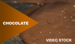 Chocolate video stock