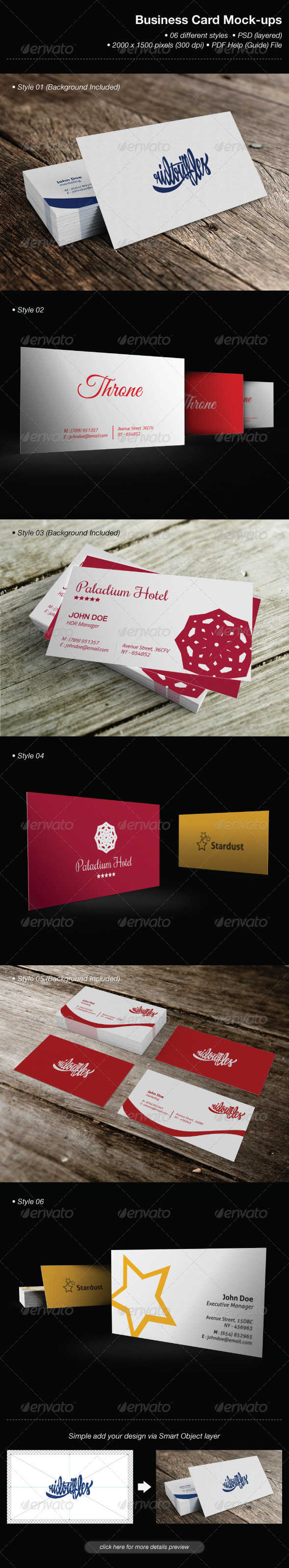 GraphicRiver Business Card Mock-Ups 6495612