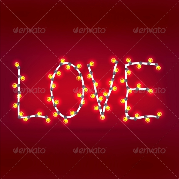 GraphicRiver Word Love Garlands 6528048