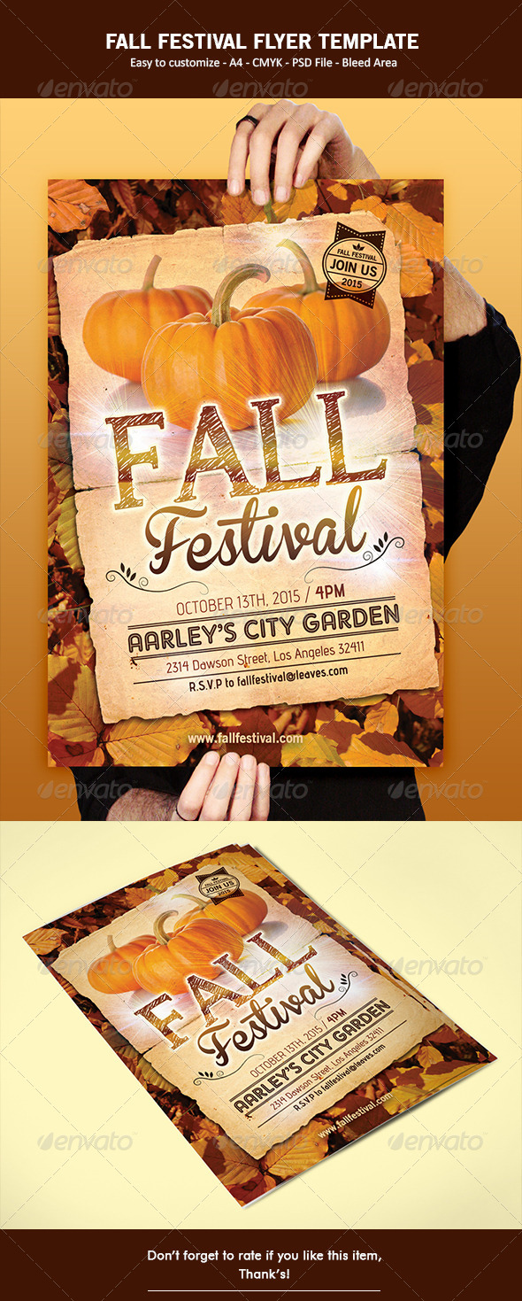 GraphicRiver Fall Festival Flyer 6493043