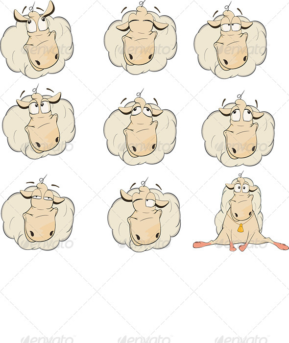 GraphicRiver Sheep Clip Art 6528641
