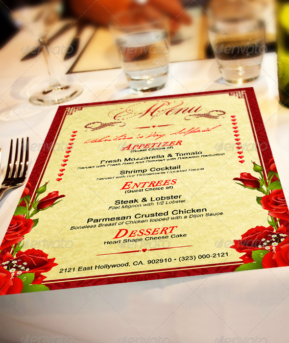 GraphicRiver St Valentines Menu 4 6499910