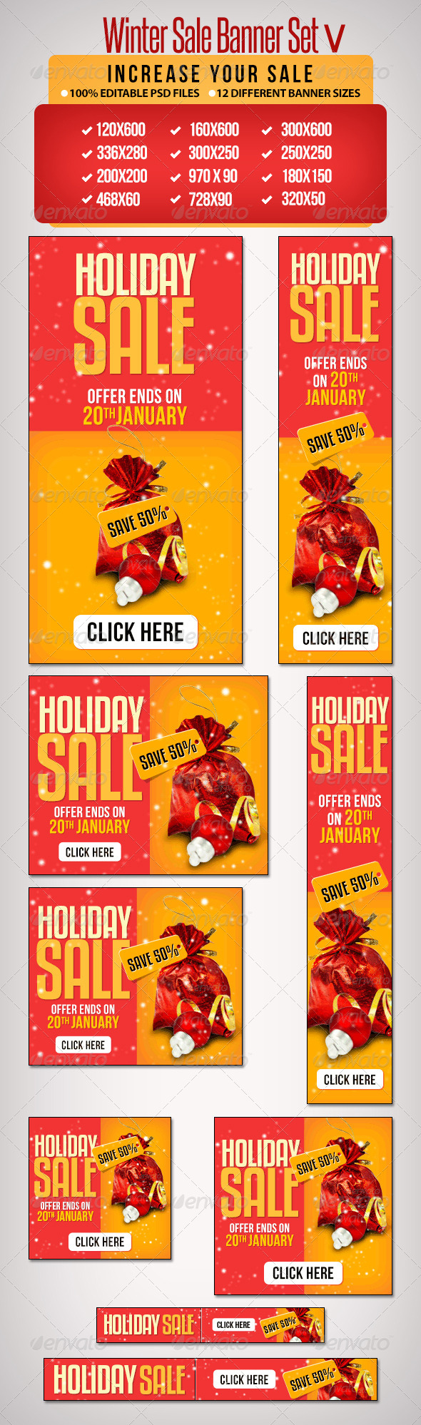 GraphicRiver Winter Sale Banner Set V 6528666