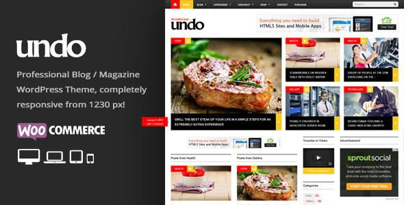 ThemeForest Undo Premium WordPress News Magazine Theme 6528752