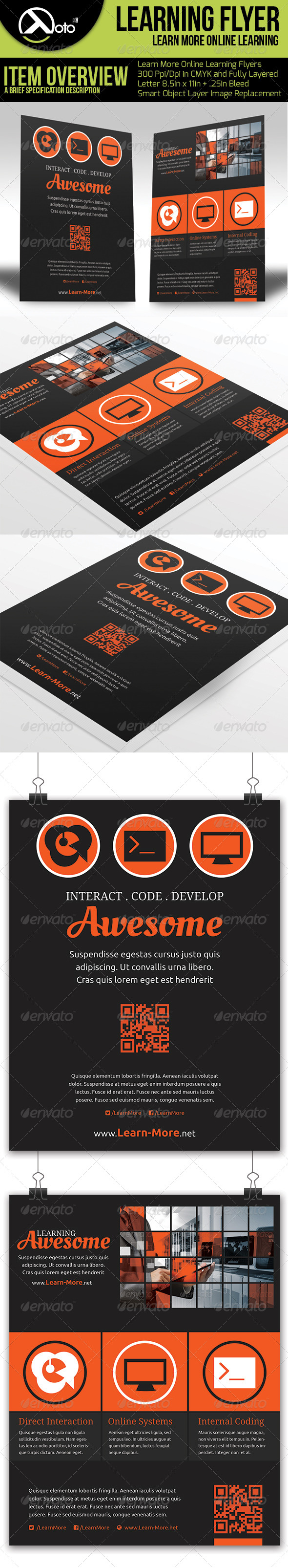 Learn More Online Learning Flyers - Flyers Print Templates