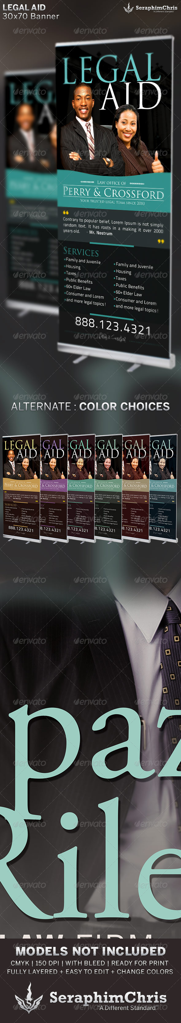 GraphicRiver Legal Aid Banner Template 6528840