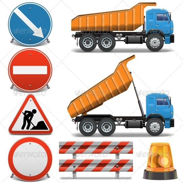 GraphicRiver Road Construction Icons Set 2 6529108