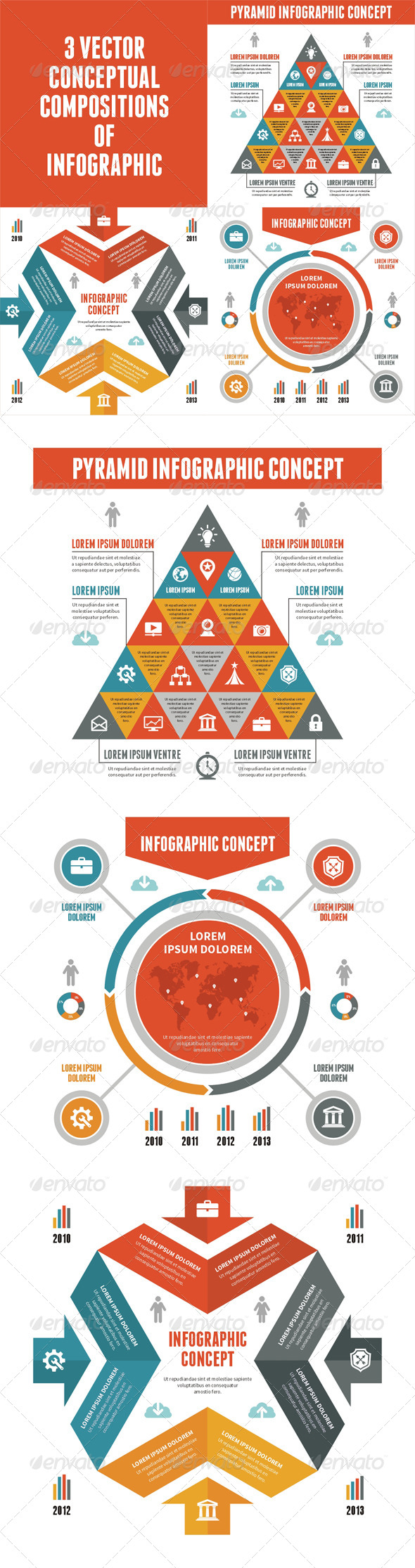 GraphicRiver 3 Infographic Concept for Presentation 6529118