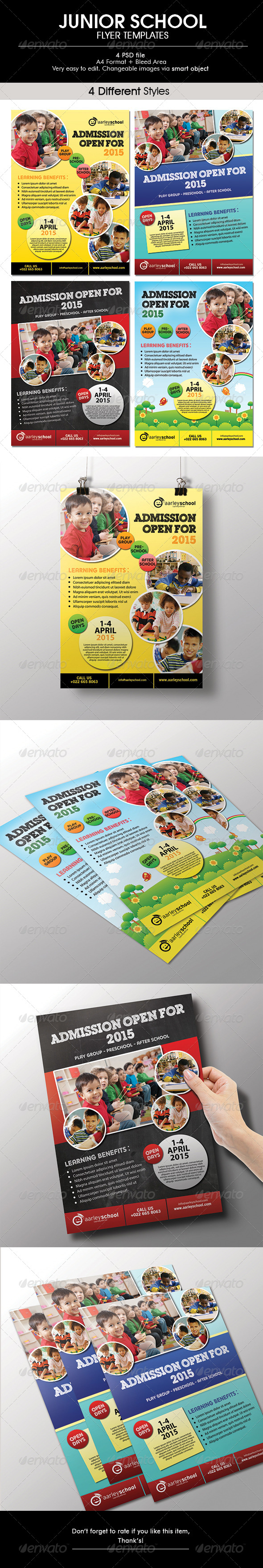 GraphicRiver Junior School Flyer 6529200