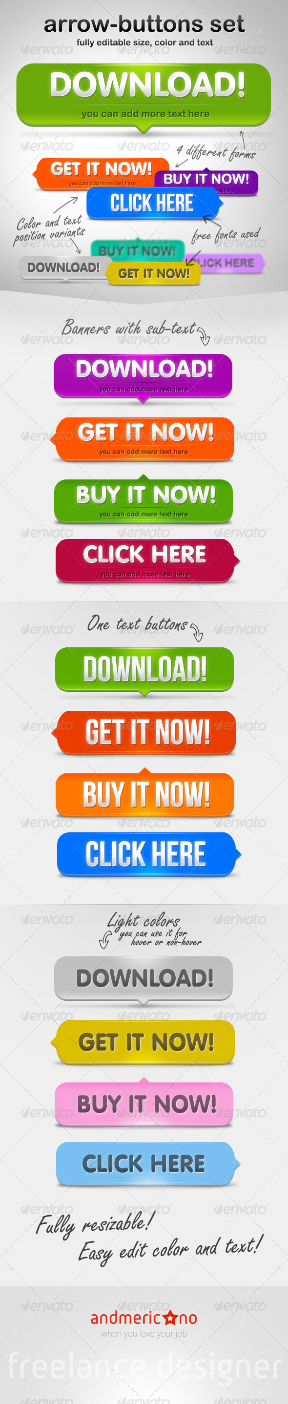 GraphicRiver Arrow Buttons Set 6529209