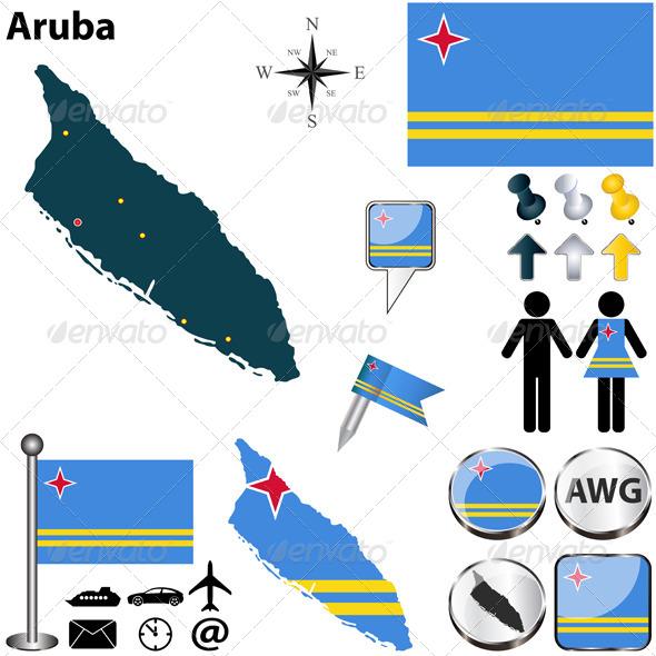 GraphicRiver Map of Aruba 6529404