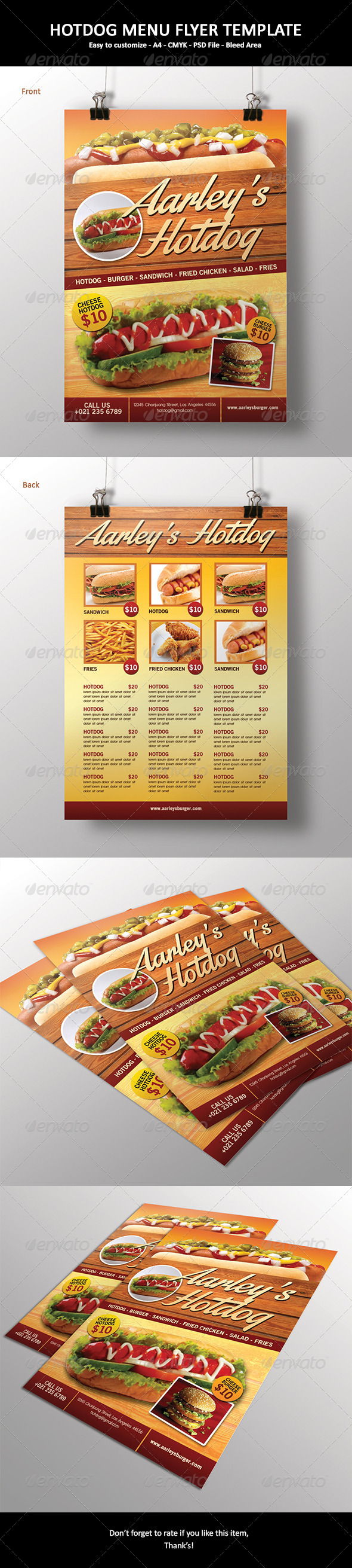 GraphicRiver Hotdog Menu Flyer 6529533