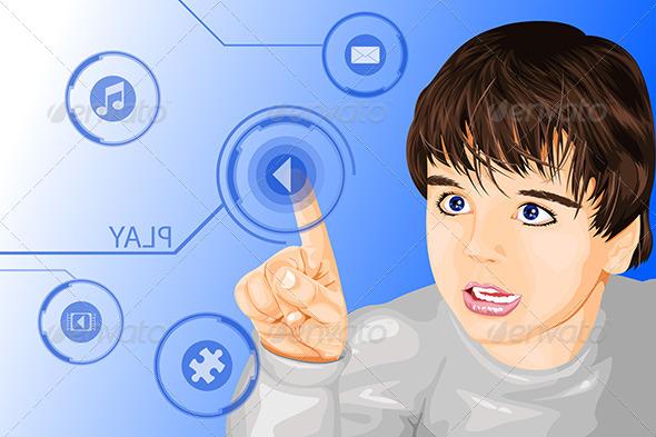 GraphicRiver Modern Technology Kid 6529688