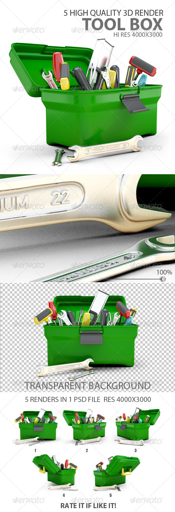 GraphicRiver Tool Box 3D render 6529824
