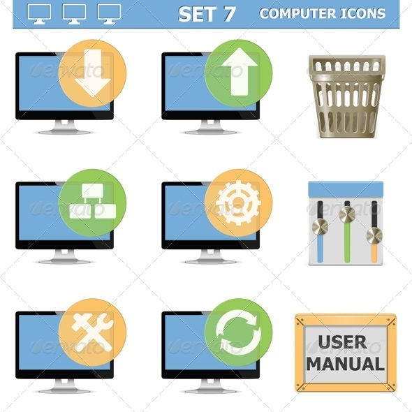 GraphicRiver Computer Icons Set 7 6529856