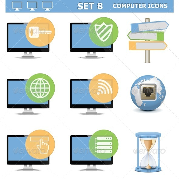 GraphicRiver Computer Icons Set 8 6529864