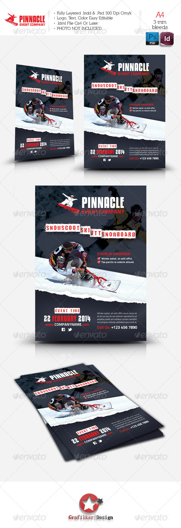 Winter Adventure Flyer Template - Corporate Flyers