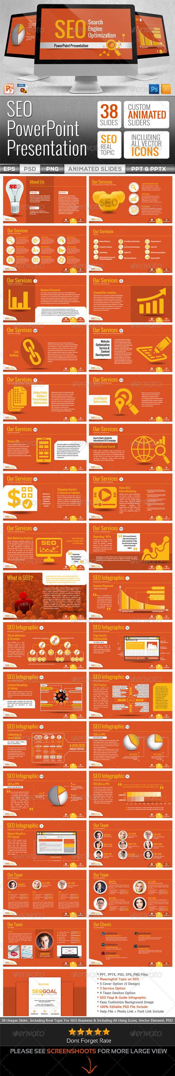 GraphicRiver SEO Services PowerPoint Presentation Templates 6530014