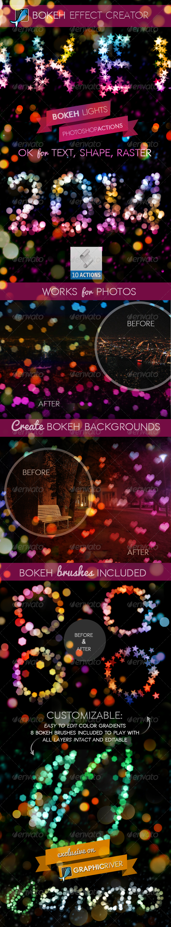GraphicRiver Bokeh Light Creator Photoshop Actions 6530161