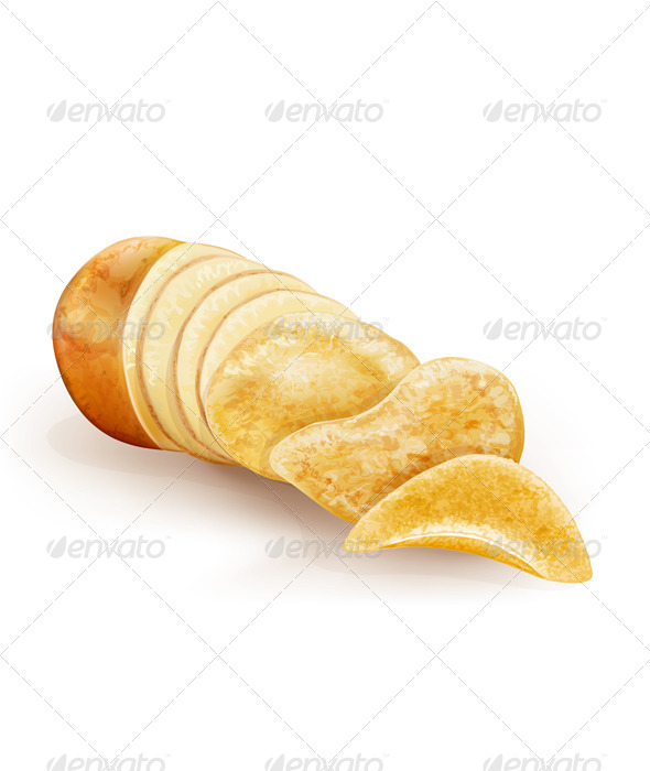 GraphicRiver Potato Cut and Chips 6530382