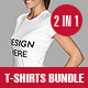 Female and Male T-Shirt Bundle - GraphicRiver Item for Sale