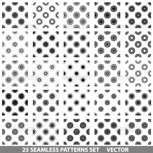GraphicRiver Vector Seamless Patterns Set 6530615