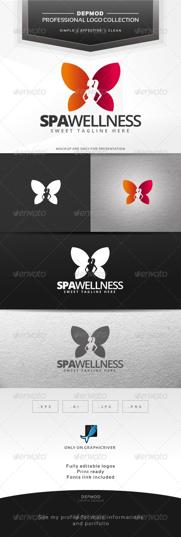 GraphicRiver Spa Wellness Logo 6530701