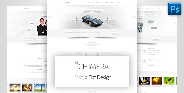 Chimera - A Bright, Light PSD Template - Creative PSD Templates