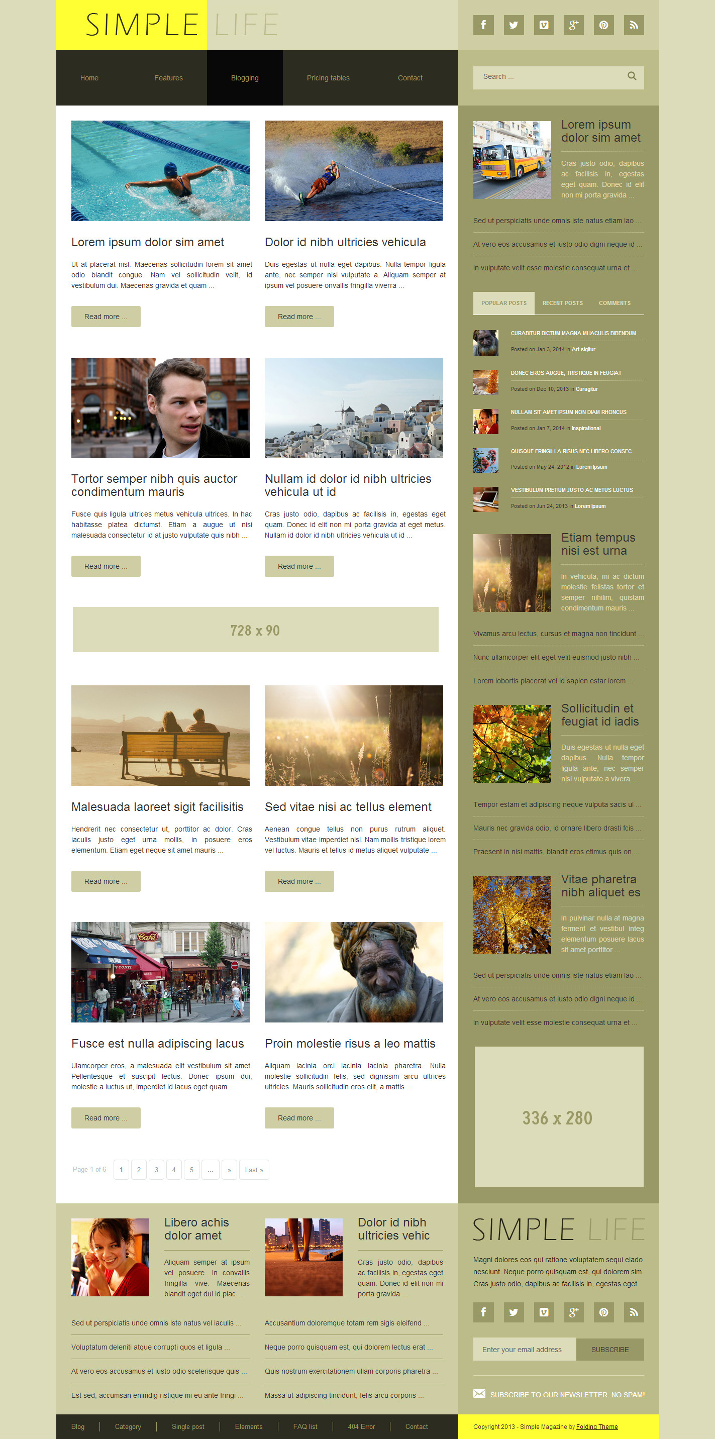 Simple life blog news magazine html template by for Minimalist living blog