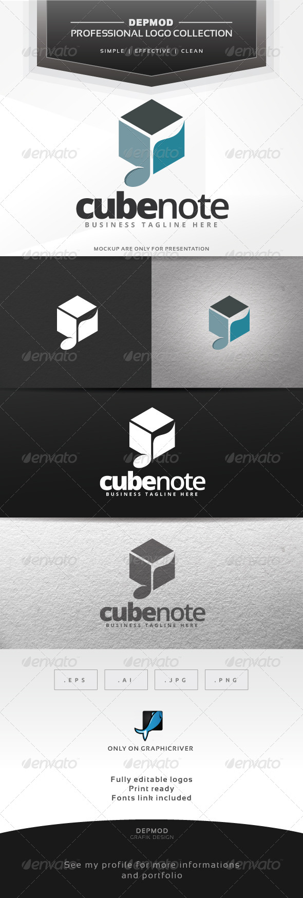 GraphicRiver Cube Note Logo 6530855