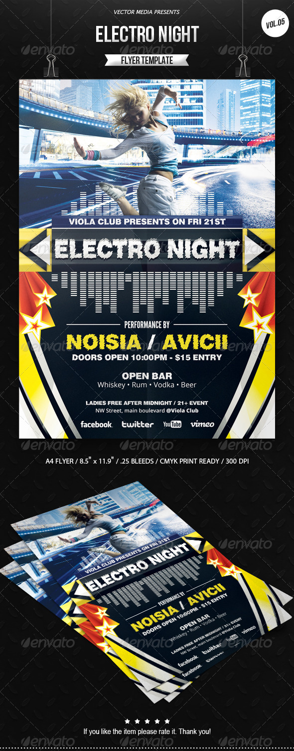 GraphicRiver Electro Night Flyer [Vol.5] 6530888